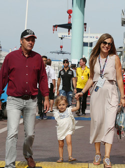 Gerhard Berger with his family