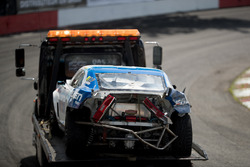 Tyler McQuarrie, Chevrolet Camaro crashed car being towed