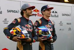 Max Verstappen, Scuderia Toro Rosso and team mate Carlos Sainz Jr., Scuderia Toro Rosso