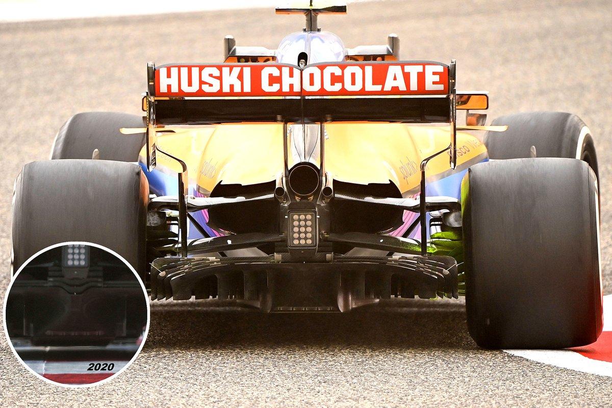 Comparación del difusor en el McLaren MCL35M.