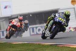 Valentino Rossi, Yamaha Factory Racing and Marc Marquez, Repsol Honda Team
