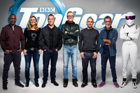 Automotive Photos - The TV-hosts of Top Gear: Rory Reid, Sabine Schmitz,  Matt LeBlanc, Chris Evans, Chris Harris, Eddie Jordan en The Stig