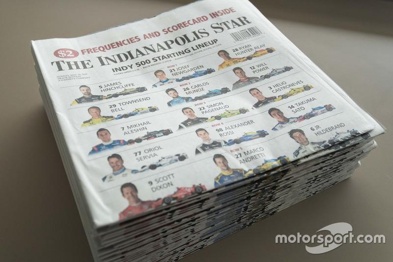 印第安纳波利斯当地最大报纸——《星报》的百届大赛号外