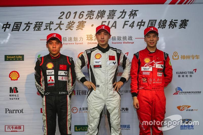 Chinese F4 Race 1 podium