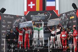 Pro-AM Podium: first place #333 Rinaldi Racing Ferrari 488 GT3: Norbert Siedler, Rinat Salikhov, second place #11 Kessel Racing Ferrari 488 GT3: Michael Broniszewski, Giacomo Piccini, third place #87 AKKA ASP Mercedes AMG GT3: Jean-Luc Beaubelique, Morgan Moullin-Traffort