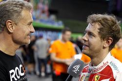 David Coulthard and Sebastian Vettel