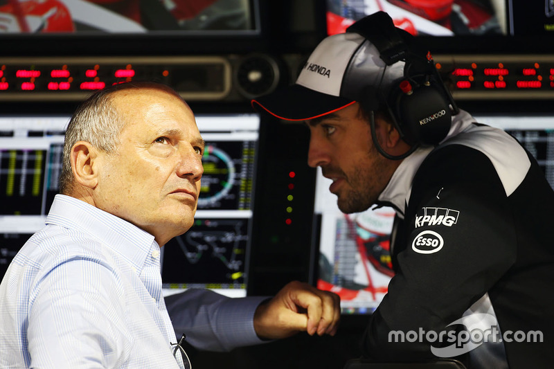 Ron Dennis, McLaren Executive Chairman and Fernando Alonso, McLaren