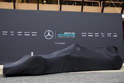 The Mercedes AMG F1 W07 Hybrid under wraps