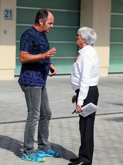 Gerhard Berger, with Bernie Ecclestone