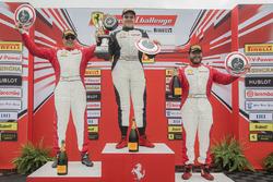 Trofeo Pirelli podium: winner Gregory Romanelli, second place Emmanuel Anassis, third place Carlos Kauffmann