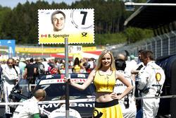 Grid girl of Bruno Spengler, BMW Team MTEK, BMW M4 DTM