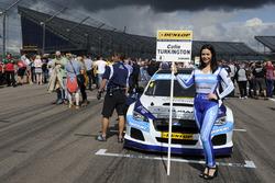 Grid girl of Colin Turkington, Silverline Subaru BMR Racing