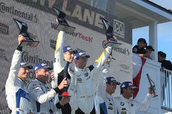 GTLM podium: Oliver Gavin, Tommy Milner, Corvette Racing, second place Ryan Briscoe, Richard Westbrook, Chip Ganassi Racing, third place #100 BMW Team RLL BMW M6 GTLM: Lucas Luhr, John Edwards, BMW Team RLL
