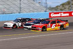 Darrell Wallace Jr., Roush Fenway Racing Ford and Brad Keselowski, Team Penske Ford
