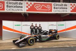 Sergio Perez, Sahara Force India F1, Alfonso Celis, Sahara Force India F1 and Nico Hulkenberg, Sahara Force India F1 unveil the Sahara Force India F1 VJM09