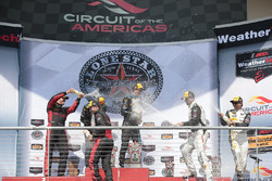 Podium: race winners #10 Wayne Taylor Racing Corvette DP: Ricky Taylor, Jordan Taylor, second place #31 Action Express Racing Corvette DP: Eric Curran, Dane Cameron, third place #5 Action Express Racing Corvette DP: Joao Barbosa, Christian Fittipaldi