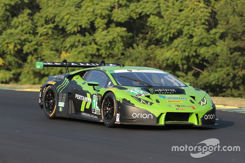 16 change racing lamborghini huracan gt3 spencer pumpelly corey lewis at vir. Black Bedroom Furniture Sets. Home Design Ideas