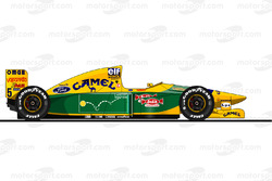 La Benetton B193 pilotée par Michael Schumacher en 1993 Reproduction