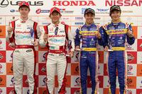 Super GT Photos - GT500 polesitters #15 Drago Modulo Honda Racing Honda NSX Concept-GT: Hideki Mutoh, Oliver Turvey, GT300 polesitters #18 Team Upgarage With Bandoh Toyota MC86: Yuhki Nakayama, Shinnosuke Yamada