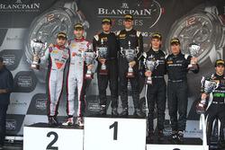 Podium: winner #58 Garage 59 McLaren 650S GT3: Rob Bell, Alvaro Parente, second place #86 HTP Motorsport Mercedes AMG GT3: Jules Szymkoviak, Bernd Schneider, third place #28 Belgian Audi Club Team WRT Audi R8 LMS Ultra: Will Stevens, René Rast