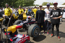 Pierre Gasly, Red Bull Renault RB8 meets Red Bull athletes Kriss Kyle and Matt Jones