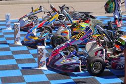 Karts lined up