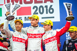 Podium: winners  #46 Thiriet by TDS Racing Oreca 05 - Nissan: Pierre Thiriet, Mathias Beche, Ryo Hirakama