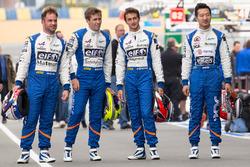 #36 Signatech Alpine A460: Gustavo Menezes, Nicolas Lapierre, Stéphane Richelmi and #35 Baxi DC Racing Alpine A460 Nissan: David Cheng
