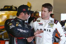 Martin Truex Jr., Furniture Row Racing Toyota and Carl Edwards, Joe Gibbs Racing Toyota