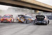 Global Rallycross Photos - Steve Arpin, Bucky Lasek, and Brian Deegan race at Round 8 of Red Bull Global Rallycross at RFK Stadium in Washington, DC USA on July 29, 2016. // Chris Tedesco/Red Bull Content Pool // P-20160730-00129 // Usage for editorial use only // Please go to www.redbullcontentpool.com for further information. //