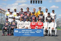 The drivers start of season group photograph