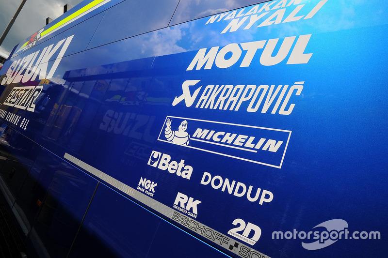 Team Suzuki MotoGP motorhome at Italian GP