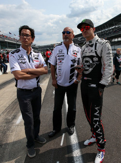 Graham Rahal, Rahal Letterman Lanigan Racing Honda with Bobby Rahal