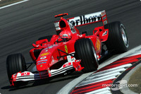 Schumacher leads Ferrari one-two in European GP