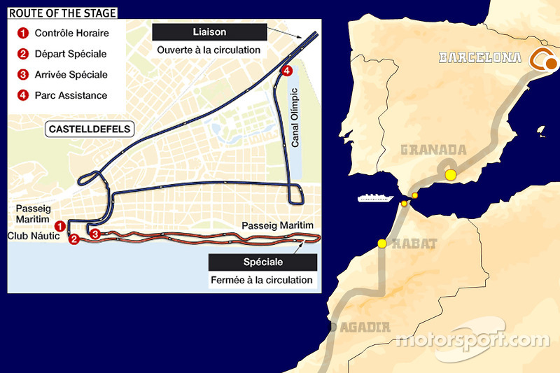Dakar: Stage 1 Barcelona to Barcelona notes
