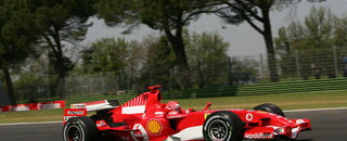 Schumacher scorches to San Marino GP pole