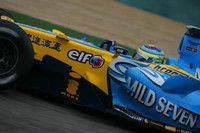 Fisichella fastest on damp Japanese GP Friday