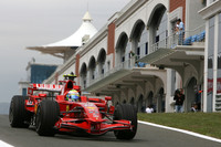 Ferraris top Friday practice in Turkey