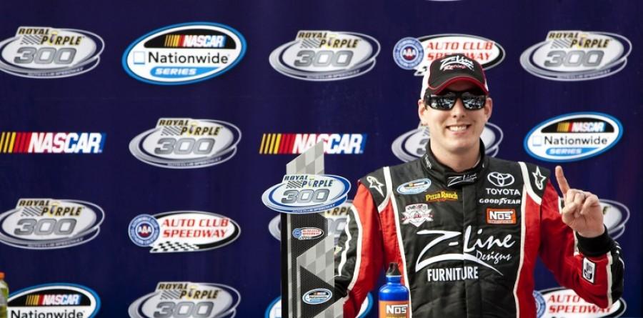 Kyle Busch wins Nationwide race in Fontana