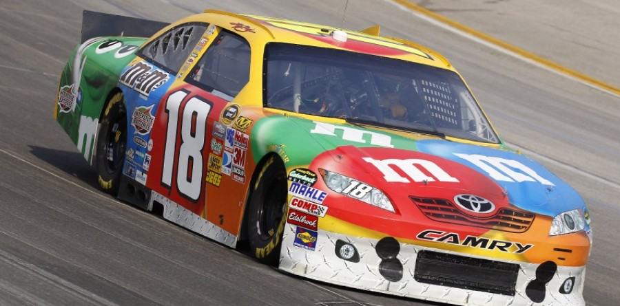 Rain Hands Kyle Busch NASCAR Kentucky 400 Pole