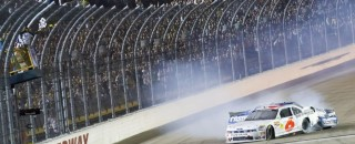 Stenhouse Slides To Nationwide Victory At Iowa Speedway