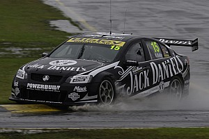 V8 Supercars Rick Kelly rain dances to Sandown race 1 victory