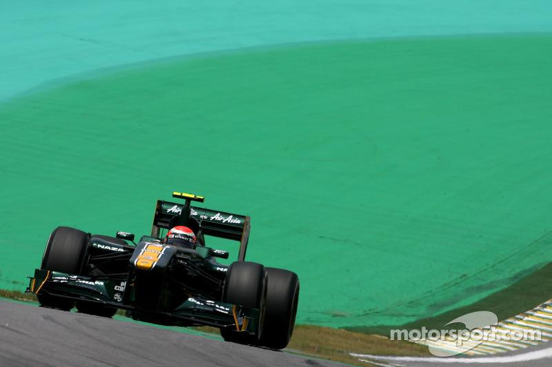 Team Lotus Brazilian GP qualifying report