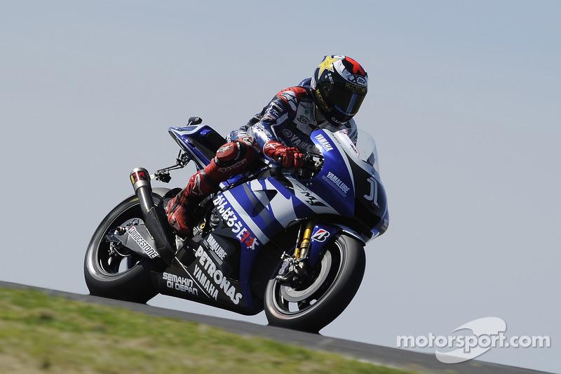 Jorge Lorenzo takes a lap at Budh International circuit