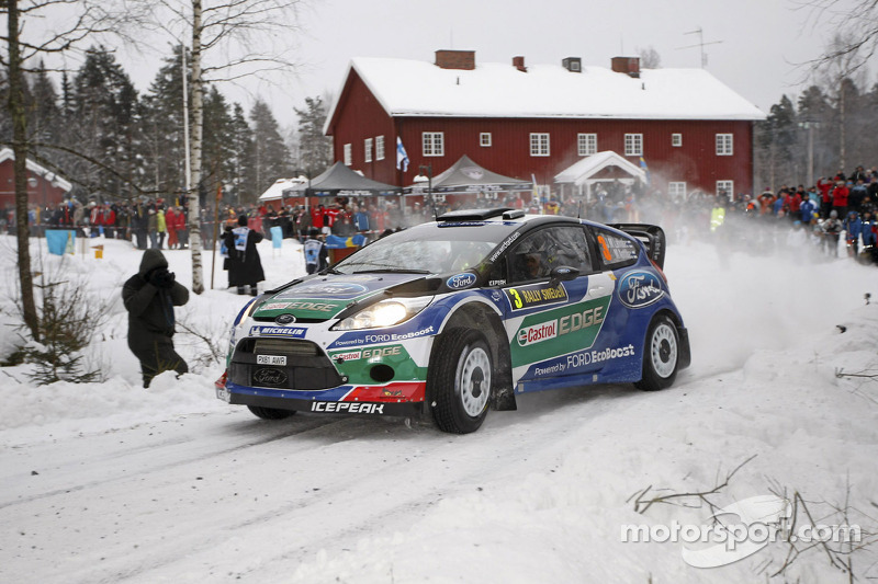 Latvala leads after long day at Rally Sweden