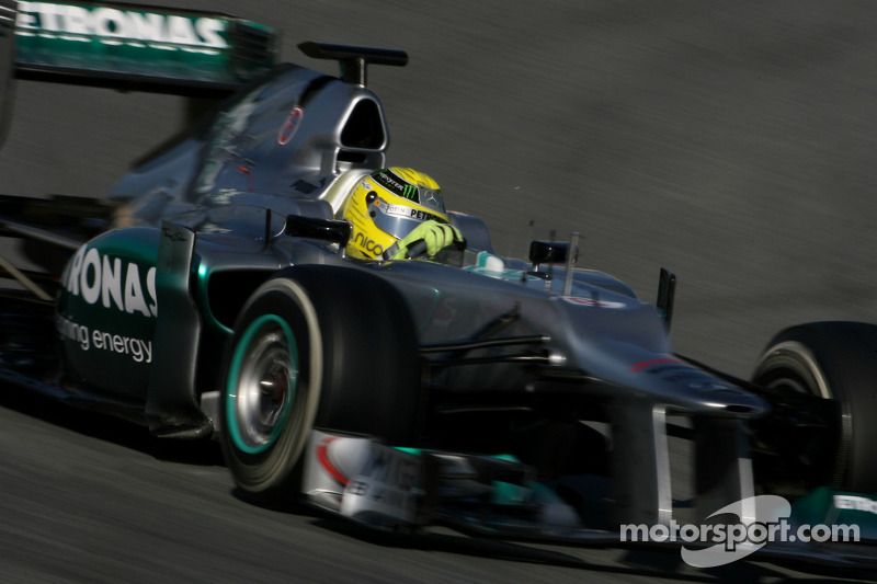 Mercedes Barcelona testing -  Day 2 report