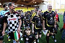 Mercedes drivers have a blast in football match with their rivals