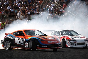 Formula Drift Race report Hankook's Frosberg claims Formula DRIFT 3rd place finish in round 4 at Wall Speedway