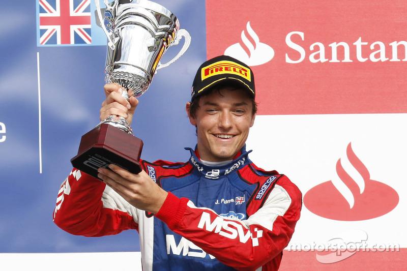 Southwater's Jolyon Palmer secures superb podium on home soil