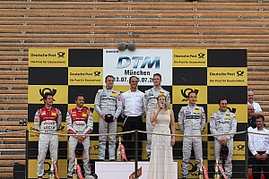 DTM Race report Ralf Schumacher and Jamie Green win premiere of team relay competition
